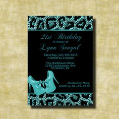 Printable Leopard  Birthday Party by GooseCornerGreetings on Etsy, $12.00