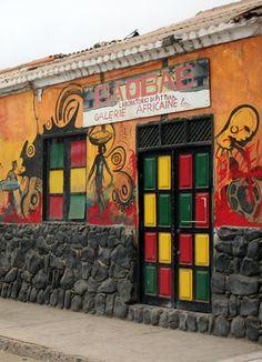 Door in Santa Maria, Cape Verde