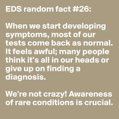 Testing, testing, 1 2 3… | This is why raising awareness of common symptoms of Ehlers-Danlos Syndrome is SO important. You don't know whose life you could change for the better, just by helping them find answers.