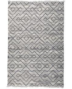 Numidia Natural Wool & Bamboo Flatweave Rug