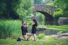 So obsessed with this gorgeous bridge proposal in Central Park!
