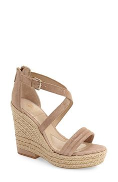 Free shipping and returns on Isolá 'Yalena' Wedge Sandal (Women) at Nordstrom.com. A ropey espadrille platform and wedge gives a lofty lift to a summer-ready sandal topped with crisscrossing leather straps and a cushioned footbed for all-day comfort.