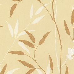Beige Silk with Gold Leaves