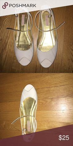 peep toe flats with ankle straps Fairy Tales are Real - UO Sandals with ankle straps Urban Outfitters Shoes Sandals