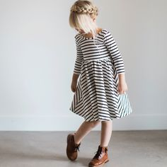 I wish I could have this Alice & Ames striped dress for both of my girls.