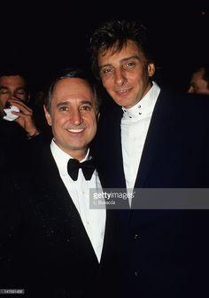 Neil Sedaka and Barry Manilow on February 22, 1993 in New York City