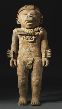 large Veracruz standing figure, Gulf Coast,<br>Late Classic/Early Postclassic, ca. A.D. 500-1200 | lot | Sotheby's
