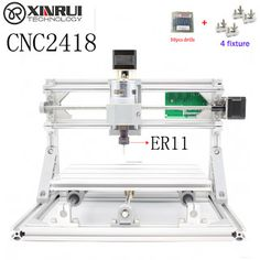 CNC 2418ER11 spindle GRBL DIY CNC laser machinework area 24x18x4.5cm3 Axis Pcb Milling Machine Wood RouterPvc Mill Engraver (32720435070) SEE MORE #SuperDeals