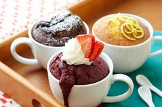 Satisfy your sweet tooth in a snap with 5-minute microwave mug cakes.