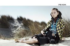 Jude Law, Saskia de Brauw, Kiki Willems   More for Prada SS17 Ads