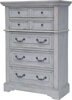 Features:  -Kennison collection.  -Center mounted wood on wood drawer glides with drawer stops.  -Commercial Use: No.  Frame Material: -Manufactured wood.  Product Type: -Standard chest (vertical). Di