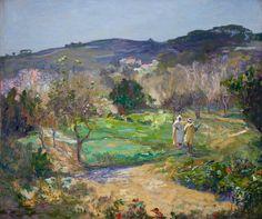 John Lavery, A Moorish Garden in Winter, 1912, Oil on canvas, Collection: Queen's University, Belfast