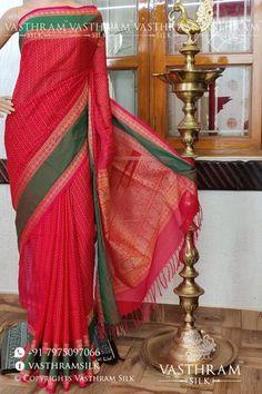 dualtone pink Kanchi cotton saree with Thread woven butta all over