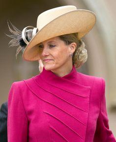 Sophie, Countess of Wessex..April 8, 2012. Easter Matins service at Windsor Castle