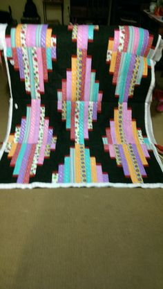Long Tall Quilt in progress done as a QAYG