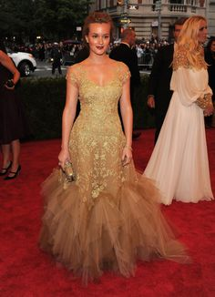 Leighton Meester in Marchesa | i love you but maybe we can throw some tulle