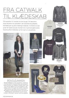 Julie Fagerholt / Heartmade Boucle Jacket in the Danish Magazine Eurowoman