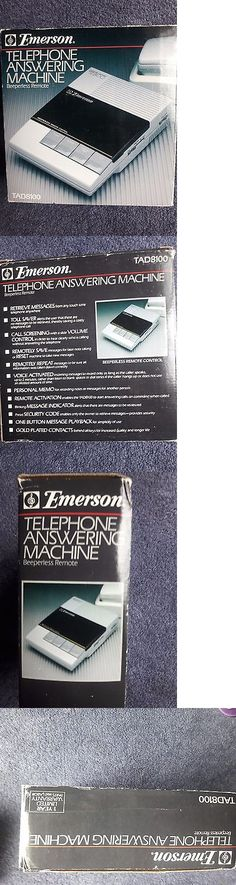 Answering Machines: Vintage Emerson Telephone Answering Machine, Beeperless Remote, Tad8100,New, -> BUY IT NOW ONLY: $37.99 on eBay!