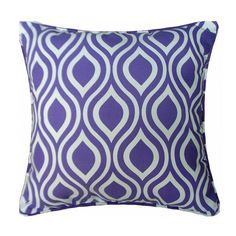 Purple and white striped pillows like peacock feather sofa cushions