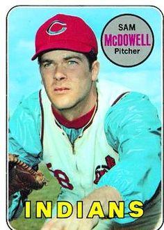 1969 Topps #220 Sam McDowell Front