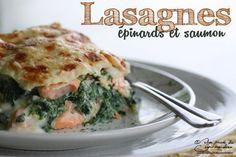 C'est la saison des épinards, c'est le moment d'en profiter ! Et si on en faisait des lasagnes ? Avec du saumon, difficile d'y résister... - Recette Plat : Lasagnes aux épinards et au saumon par Une pincee de gourmandise