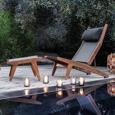 BAY LOUNGE CHAIR - Designer Armchairs from Gloster Furniture GmbH ✓ all information ✓ high-resolution images ✓ CADs ✓ catalogues ✓ contact. Outdoor Loungers, Outdoor Chairs, Outdoor Furniture, Outdoor Decor, Spa Interior, Interior Design Services, Outdoor Spaces, Outdoor Living, Sun Chair