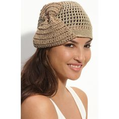 Collection XIIX Crochet Beanie ($14) found on Polyvore