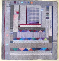 Consider the Grey by Fern Royce.  Photo by The Plaid Portico. Quilt exhibit at the Sweet Adeline Bakeshop in Berkeley, California, through the month of August 2016