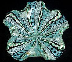 FRATELLI TOSO Murano ZANFIRICO Ribbon Flower Shape Bowl