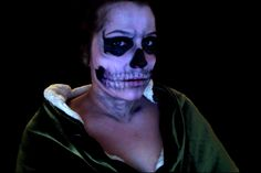 American Horror Story Tate MakeUp AHS. Just Eyeliner, White and Black EyeShadow Scull, Halloween