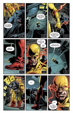"""As part of DC Rebirth's epic crossover with the Watchmen, """"Batman"""" #21 sees a fascinating Watchmen cameo: the use of the 9-grid panel formatting used heavily in the original Watchmen comic."""