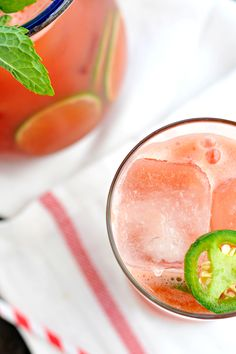 Jalapeño Watermelon Agua Fresca - a drinko for Cinco // the pig & quill