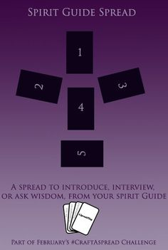 Spirit Guide Spread I developed this spread first for my own use, in an effort to let me communicate with my spirit guide when I was not able to find the peace I needed for proper meditation, and... #howtoreadtarotcards