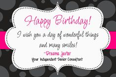 Thirty-One Happy Birthday Postcard/Coupon- DIY Printable by Simply Sprinkled