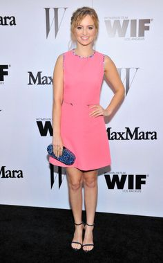 Ahna O'Reilly at the MaxMara And W Magazine Cocktail Party To Honor The Women In Film MaxMara Face Of The Future, Rose Byrne. Makeup by Kelsey Deenihan.