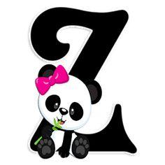 Doodles Kawaii, Cute Animal Tattoos, Cute Diary, Alfabeto Animal, Panda Birthday, Cute Panda Wallpaper, Panda Party, Panda Wallpapers, Alphabet Wallpaper