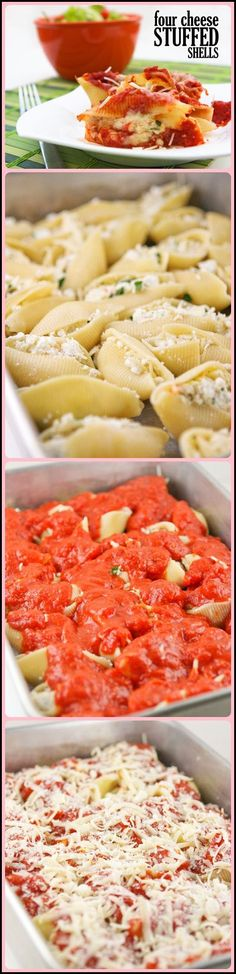 Four Cheese Stuffed Shells