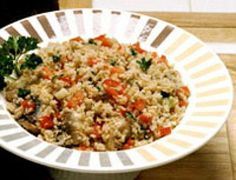 Bulgur Wheat Pilaf with Mushrooms.....A vegetarian and vegan bulgur pilaf recipe made with healthy whole grain bulgur wheat. If you like whole grains or rice pilaf, try this super-healthy version using bulgur wheat.