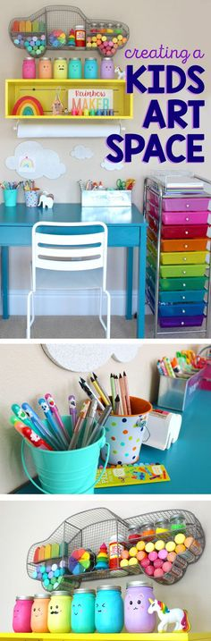 How to create a space for kids to create art or make crafts. So many great tips!