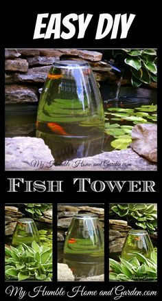 Amazing Fish Tower and Water Garden DIY on My Humble Home and Garden.com