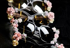DIY floral sunglasses