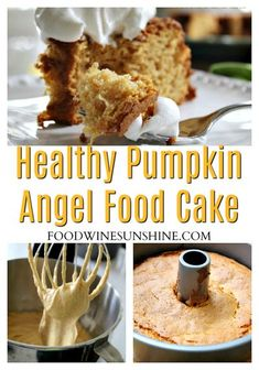 Healthy Pumpkin Angel Food Cake | This Pumpkin Angel Food Cake Recipe is one the easiest desserts you will ever make and it's absolutely delicious! Grab the recipe and enjoy this Weight Watchers Pumpkin Angel Food Cake. #healthyrecipe #pumpkin #angelfoodcake #recipe #fall