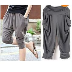 Harem pants. I bought a pair like this in black... I hope they look good on me.