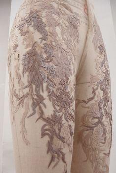 """Anjelica"" Senior Thesis Collection. New York, 2011.  Hand-Cut Appliqué  Textile & Design: Myrtle Quillamor"