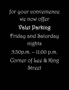 They even offer Valet Parking -  Fish Market is located in Alexandria Va. A well loved eatery and landmark of Old Town. Fish Market is open daily: Lunch: 11:30 a.m. to 4:00 p.m. and Dinner: 4:00 p.m. to 11:00 p.m.