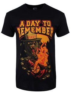 A Day To Remember Smokey Bear Men's Black T-Shirt