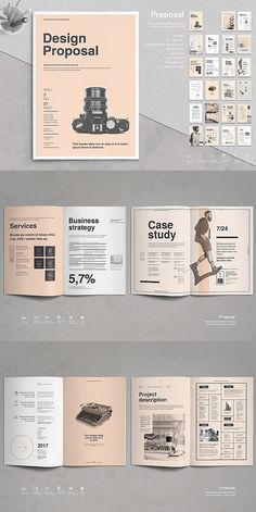 Proposal Vol. - Proposal Vol. 8 – design proposal template # Brochure t - Graphic Design Layouts, Book Design Layout, Print Layout, Book Cover Design, Design Portfolio Layout, Book Design Templates, Word Template Design, Brochure Design Layouts, Web Layout
