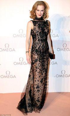 Nicole Kidman in Oscar de la Renta. Omega gala
