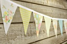 Mix n' Match - Vintage Bunting Banner with 12 Flags. $22.00, via Etsy.