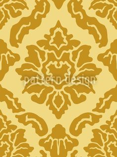 Pop Baroque Gold by Viktoryia Yakubouskaya available for download as a vector file on patterndesigns.com Baroque Design, Surface Pattern Design, Vector Pattern, Vector File, Patterns, Pattern Designs, Damask, Animal Print Rug, Pop